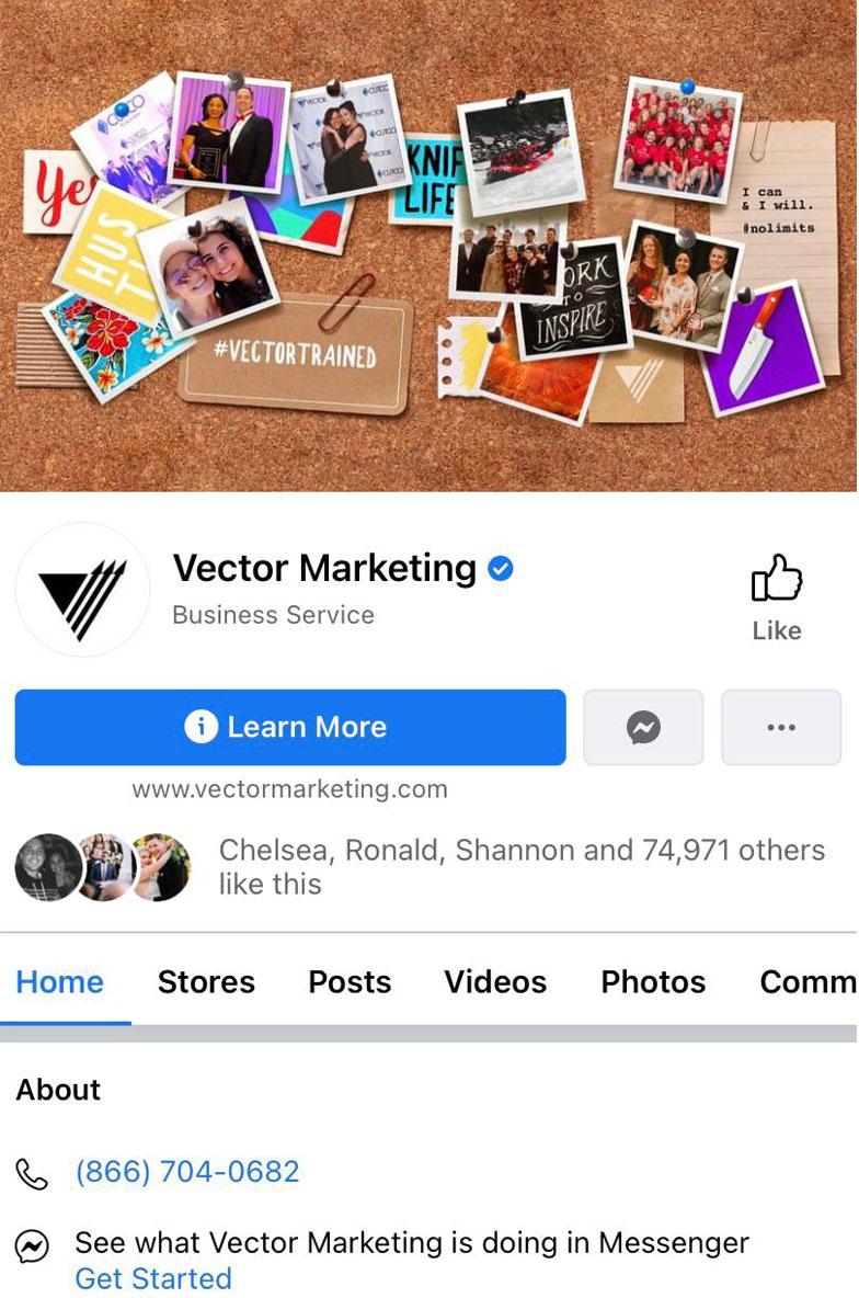 Vector Marketing Facebook